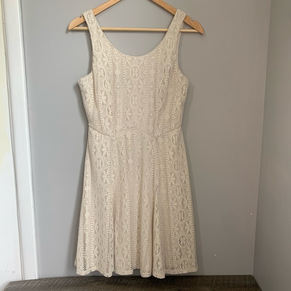 Cream Lace Dress Maurices Small